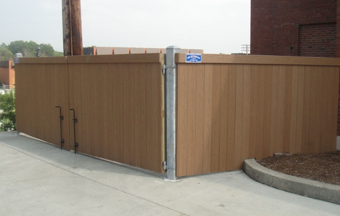 Dumpster Fencing - Dickerson Fencing Durham, NC